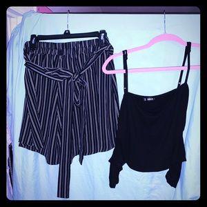 SHEIN Shorts and Crop Top Set